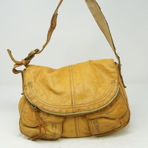 LUCKY BRAND Mustard Yellow Indian Leather
